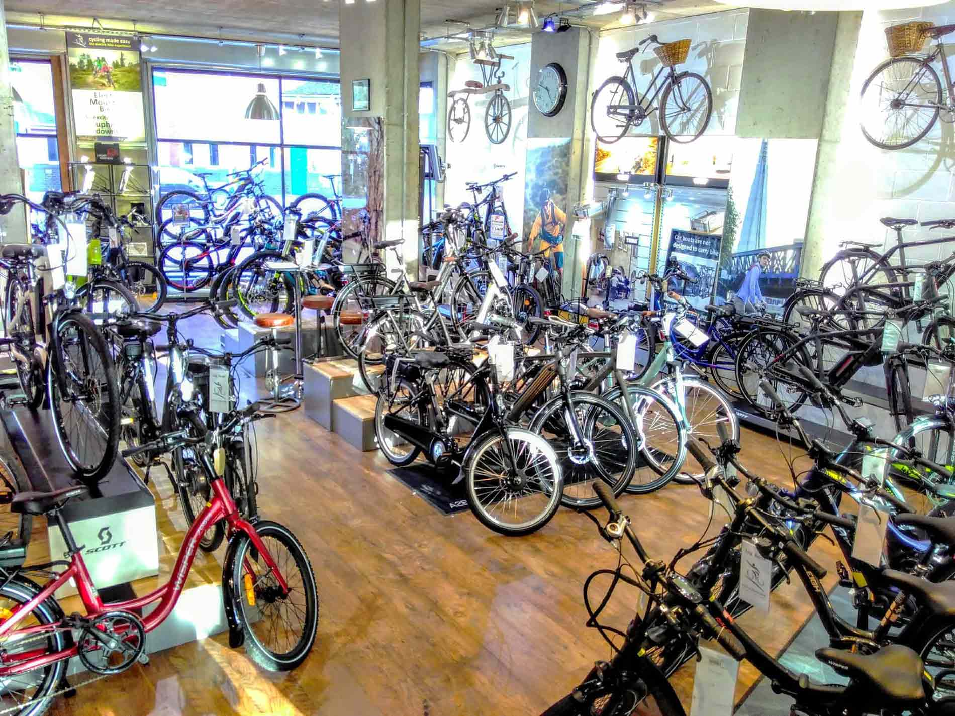 Image of our e-bike showroom in Coulsdon